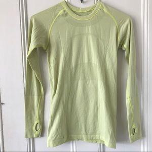 LULULEMON Swiftly Tech yellow long shirt 6 Top